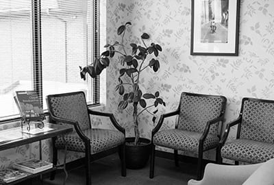 Reception Area Chairs in Grayscale